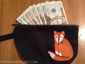 This is my foxy pocket. Minus the cash. @foxywinepocket