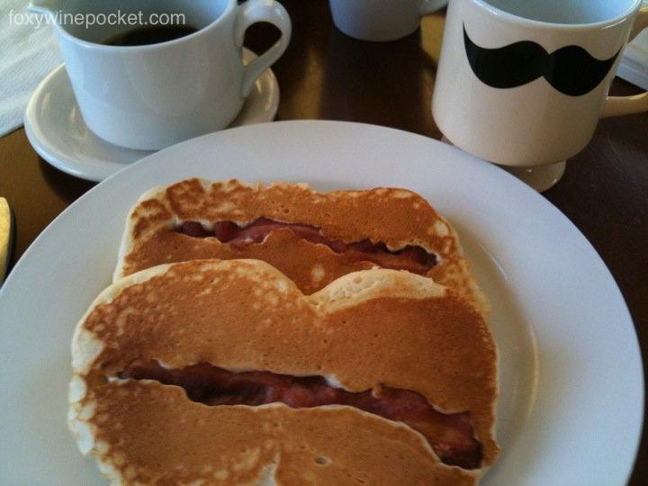 Bacon Pancakes Attempt #1 (AKA, Labia Cakes)