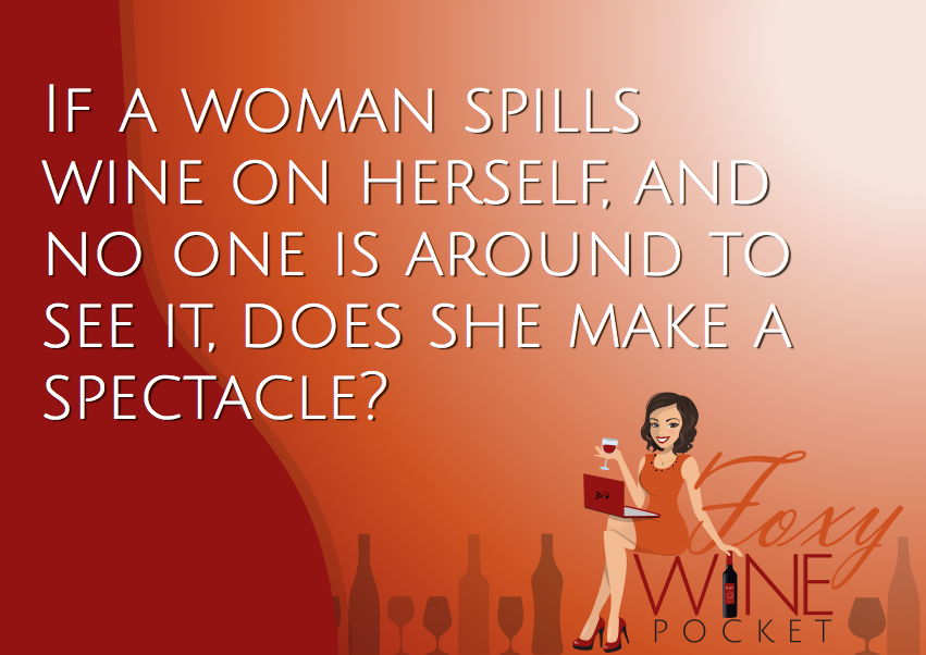 The answer is no. NO, SHE DOES NOT. #pocketpostcard #wine