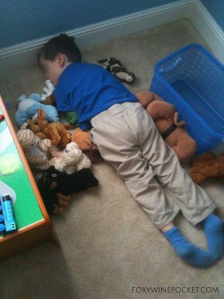Sleeping on Stuffies