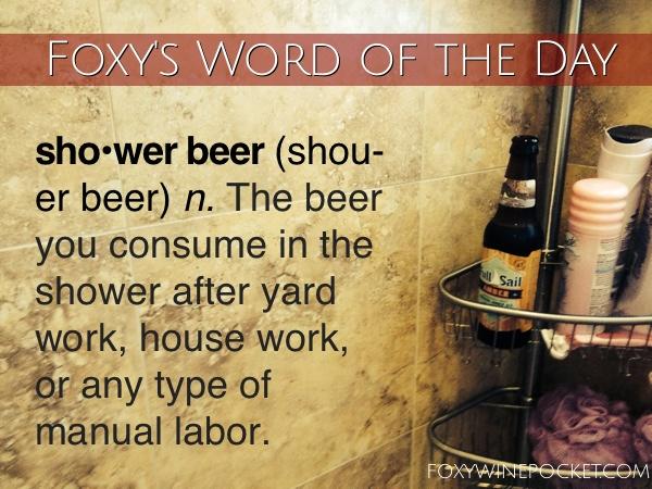 Foxy Wine Pocket's Shower Beer #pocketpostcard #showerbeer #youearnedit