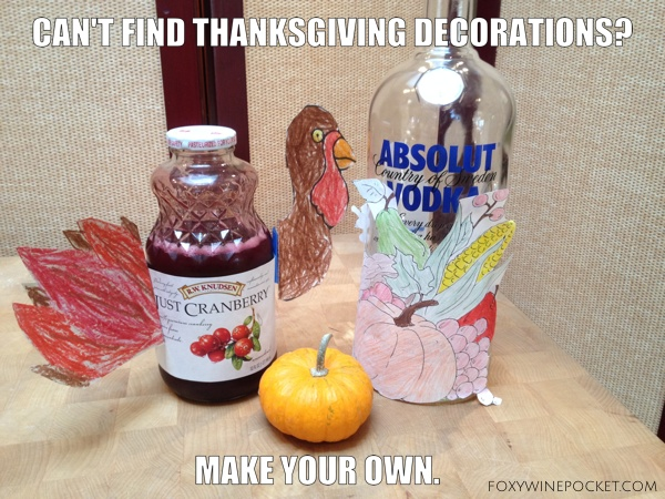 Can't find Thanksgiving decorations? Make your own. @foxywinepocket #thanksgivingdecorations #takingbackthanksgiving