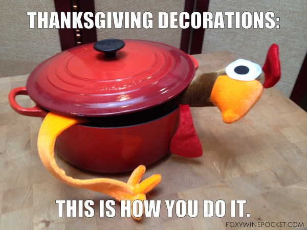 Thanksgiving decorations. This is how you do it. @foxywinepocket #takingbackthanksgiving