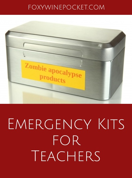 We assemble emergency snack-packs for our children, but what about their teachers? They need comfort and nourishment too. @foxywinepocket | humor