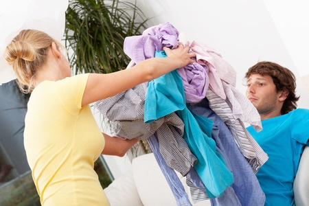 My husband and I tried The KonMari Method of home organization. He almost tossed me out with the discards. @foxywinepocket | humor