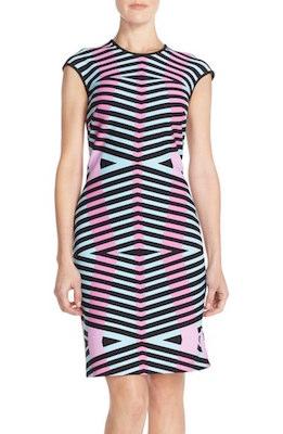 Pique Knit Sheath Dress