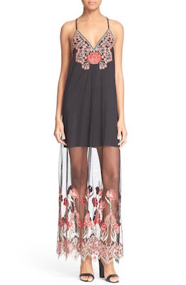 Sally Embroidered Illusion Gown