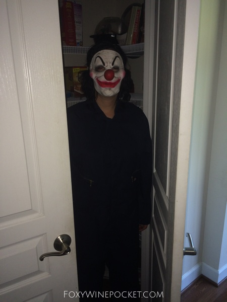 Clown in pantry