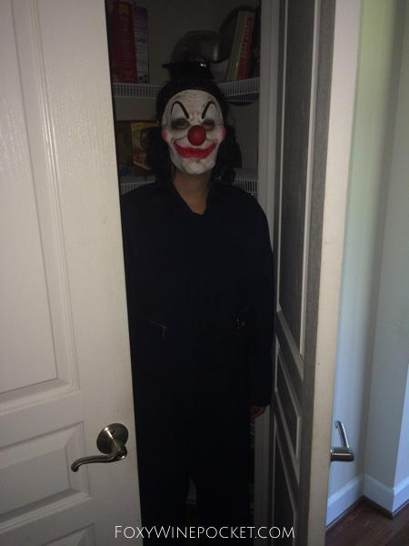 Clown in pantry